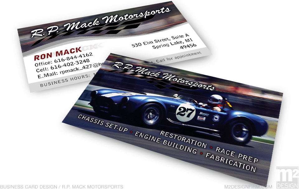 RP Motorsports Business Card
