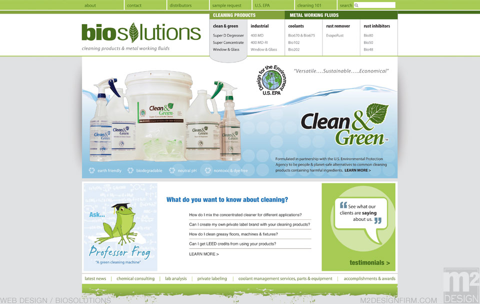 biosolutions Landing Page