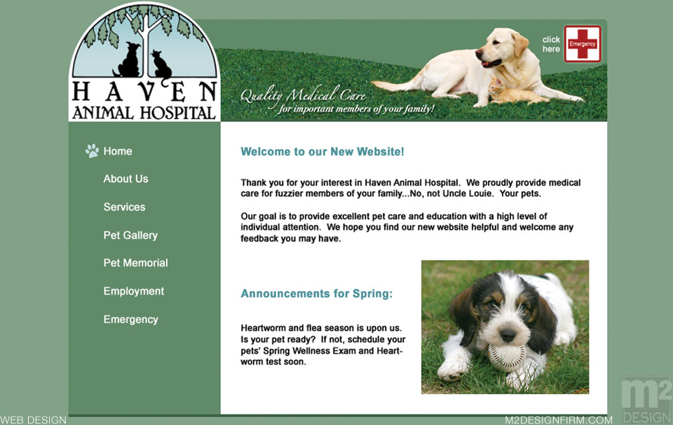 Haven Animal Web Design