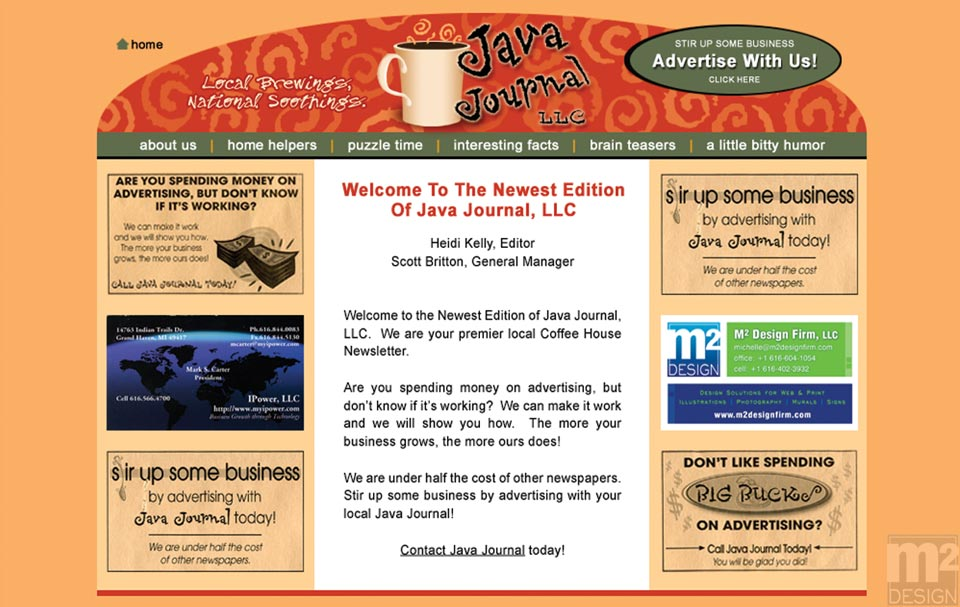 Java Journal Web Design