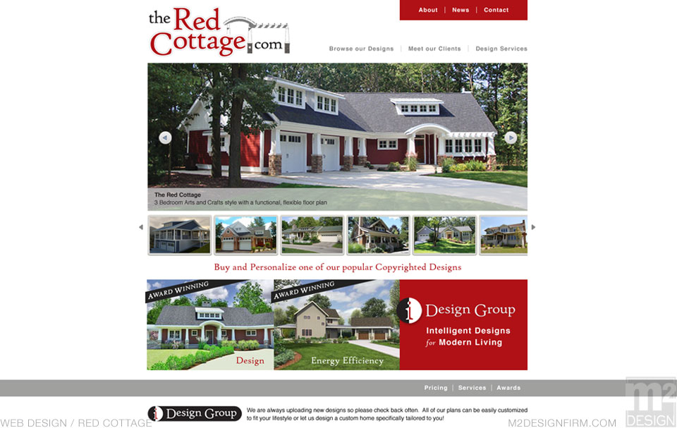 The Red Cottage Landing Page